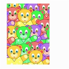 Cute Cartoon Crowd Of Colourful Kids Bears Large Garden Flag (two Sides)
