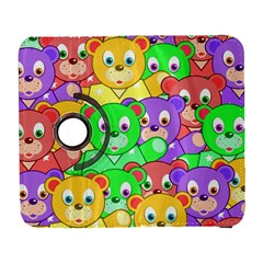 Cute Cartoon Crowd Of Colourful Kids Bears Galaxy S3 (flip/folio)