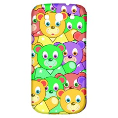 Cute Cartoon Crowd Of Colourful Kids Bears Samsung Galaxy S3 S Iii Classic Hardshell Back Case by Nexatart