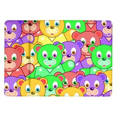 Cute Cartoon Crowd Of Colourful Kids Bears Samsung Galaxy Tab 10 1  P7500 Flip Case by Nexatart