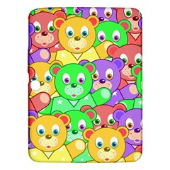Cute Cartoon Crowd Of Colourful Kids Bears Samsung Galaxy Tab 3 (10 1 ) P5200 Hardshell Case  by Nexatart