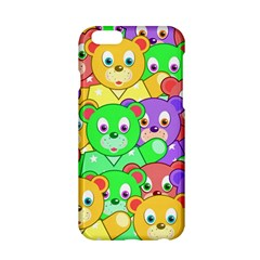 Cute Cartoon Crowd Of Colourful Kids Bears Apple Iphone 6/6s Hardshell Case by Nexatart