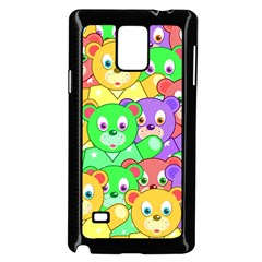 Cute Cartoon Crowd Of Colourful Kids Bears Samsung Galaxy Note 4 Case (black) by Nexatart
