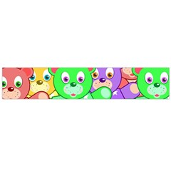 Cute Cartoon Crowd Of Colourful Kids Bears Flano Scarf (large) by Nexatart