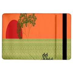 Sunset Orange Green Tree Sun Red Polka Ipad Air Flip by Mariart