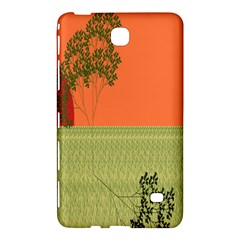 Sunset Orange Green Tree Sun Red Polka Samsung Galaxy Tab 4 (8 ) Hardshell Case  by Mariart