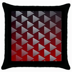 Netflix Play Button Pattern Throw Pillow Case (black)