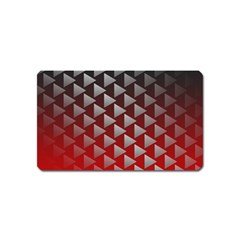 Netflix Play Button Pattern Magnet (name Card) by Nexatart