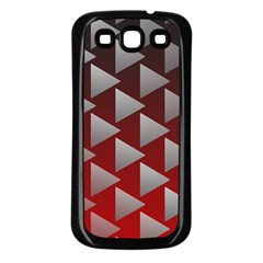 Netflix Play Button Pattern Samsung Galaxy S3 Back Case (black)