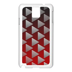 Netflix Play Button Pattern Samsung Galaxy Note 3 N9005 Case (white)
