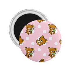 Kawaii Bear Pattern 2 25  Magnets by Nexatart