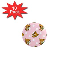 Kawaii Bear Pattern 1  Mini Magnet (10 Pack)  by Nexatart