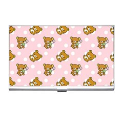 Kawaii Bear Pattern Business Card Holders by Nexatart