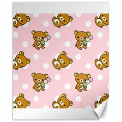 Kawaii Bear Pattern Canvas 16  X 20