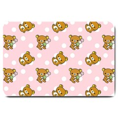 Kawaii Bear Pattern Large Doormat  by Nexatart