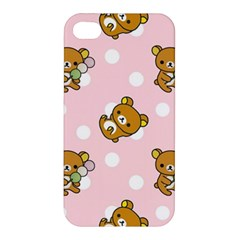 Kawaii Bear Pattern Apple Iphone 4/4s Premium Hardshell Case