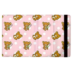 Kawaii Bear Pattern Apple Ipad 3/4 Flip Case