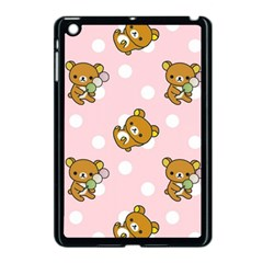 Kawaii Bear Pattern Apple Ipad Mini Case (black) by Nexatart