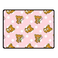 Kawaii Bear Pattern Double Sided Fleece Blanket (small)