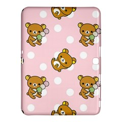 Kawaii Bear Pattern Samsung Galaxy Tab 4 (10 1 ) Hardshell Case  by Nexatart