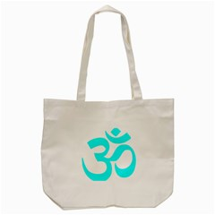 Hindu Om Symbol (cyan) Tote Bag (cream) by abbeyz71