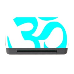 Hindu Om Symbol (cyan) Memory Card Reader With Cf by abbeyz71
