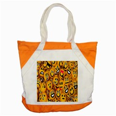 Smileys Linus Face Mask Cute Yellow Accent Tote Bag by Mariart