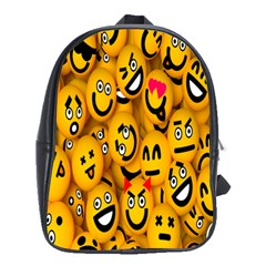 Smileys Linus Face Mask Cute Yellow School Bags(large)