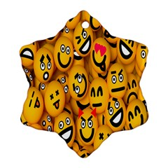 Smileys Linus Face Mask Cute Yellow Ornament (snowflake)