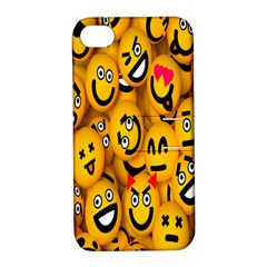Smileys Linus Face Mask Cute Yellow Apple Iphone 4/4s Hardshell Case With Stand by Mariart