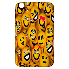 Smileys Linus Face Mask Cute Yellow Samsung Galaxy Tab 3 (8 ) T3100 Hardshell Case  by Mariart