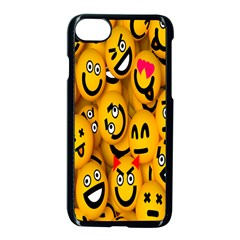 Smileys Linus Face Mask Cute Yellow Apple Iphone 7 Seamless Case (black) by Mariart