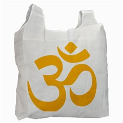 Hindu Om Symbol (gold) Recycle Bag (one Side) by abbeyz71