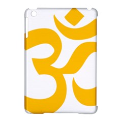 Hindu Om Symbol (gold) Apple Ipad Mini Hardshell Case (compatible With Smart Cover) by abbeyz71