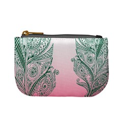 Toggle The Widget Bar Leaf Green Pink Mini Coin Purses by Mariart