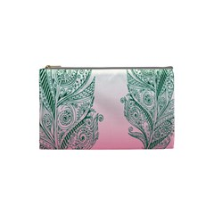 Toggle The Widget Bar Leaf Green Pink Cosmetic Bag (small)
