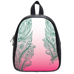 Toggle The Widget Bar Leaf Green Pink School Bags (small)  by Mariart