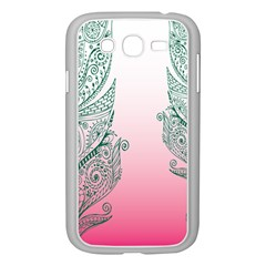 Toggle The Widget Bar Leaf Green Pink Samsung Galaxy Grand Duos I9082 Case (white) by Mariart