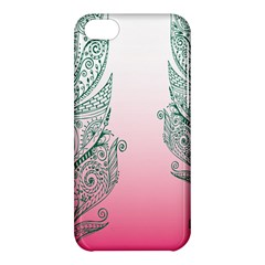 Toggle The Widget Bar Leaf Green Pink Apple Iphone 5c Hardshell Case by Mariart