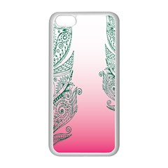Toggle The Widget Bar Leaf Green Pink Apple Iphone 5c Seamless Case (white) by Mariart