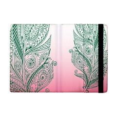 Toggle The Widget Bar Leaf Green Pink Ipad Mini 2 Flip Cases by Mariart