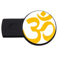 Aum Om Gold Usb Flash Drive Round (2 Gb) by abbeyz71