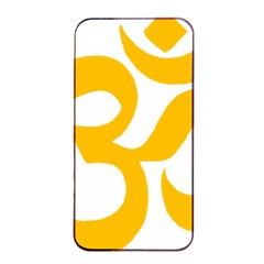 Aum Om Gold Apple Iphone 4/4s Seamless Case (black) by abbeyz71