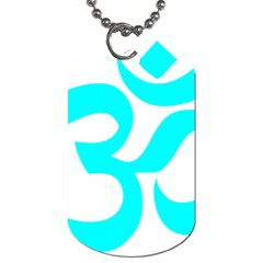 Aum Om Cyan Dog Tag (one Side) by abbeyz71