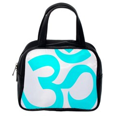 Aum Om Cyan Classic Handbags (one Side) by abbeyz71