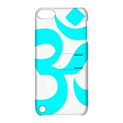 Aum Om Cyan Apple Ipod Touch 5 Hardshell Case With Stand by abbeyz71