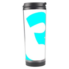 Aum Om Cyan Travel Tumbler by abbeyz71