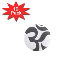 Hindu Om Symbol (dark Gray)  1  Mini Magnet (10 Pack)  by abbeyz71