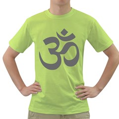 Hindu Om Symbol (dark Gray)  Green T-shirt by abbeyz71