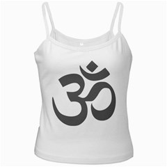 Hindu Om Symbol (dark Gray)  Ladies Camisoles by abbeyz71